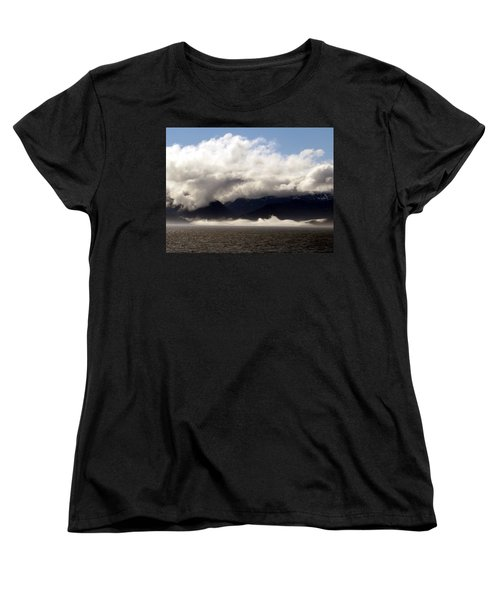 Women's T-Shirt (Standard Cut) featuring the photograph Tracy Arm Fjord by Jennifer Wheatley Wolf