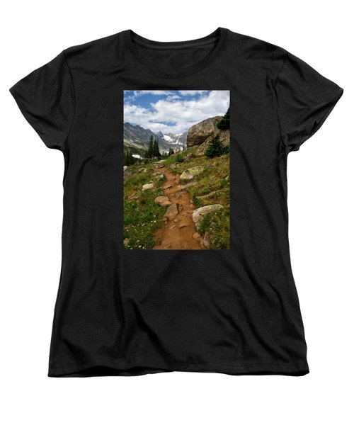 Women's T-Shirt (Standard Cut) featuring the photograph Trail To Lake Isabelle by Ronda Kimbrow