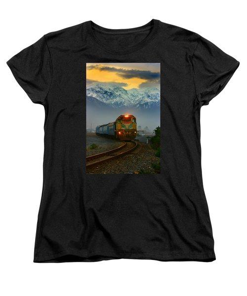 Train In New Zealand Women's T-Shirt (Standard Cut) by Amanda Stadther