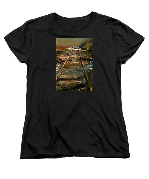 Train Track To Hell Women's T-Shirt (Standard Cut) by RC deWinter