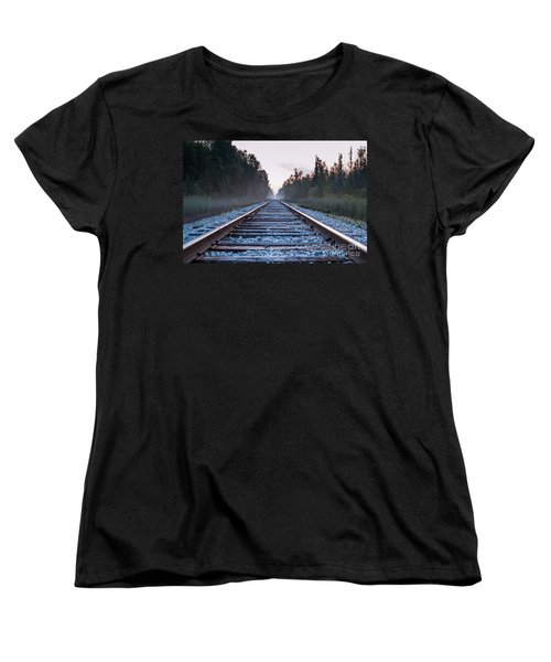 Women's T-Shirt (Standard Cut) featuring the photograph Train Tracks To Nowhere by Patrick Shupert