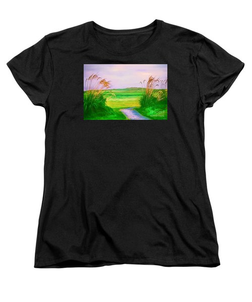Tralee Ireland Water Color Effect Women's T-Shirt (Standard Cut) by Tom Prendergast