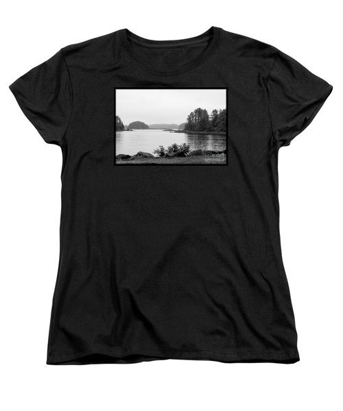 Women's T-Shirt (Standard Cut) featuring the photograph Tranquil Harbor by Victoria Harrington