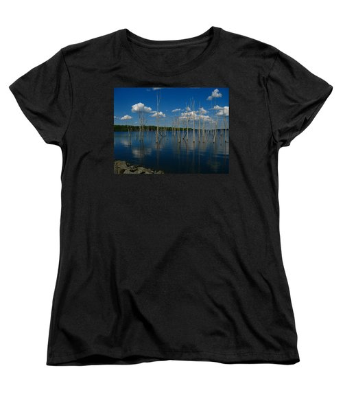 Women's T-Shirt (Standard Cut) featuring the photograph Tranquility II by Raymond Salani III