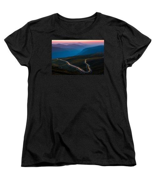 Transalpina Women's T-Shirt (Standard Cut) by Mihai Andritoiu