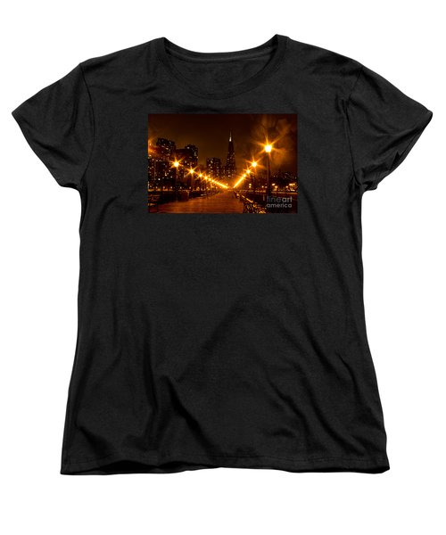 Transamerica Pyramid From Pier Women's T-Shirt (Standard Cut) by Suzanne Luft