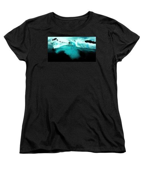 Women's T-Shirt (Standard Cut) featuring the photograph Transparent Iceberg by Amanda Stadther