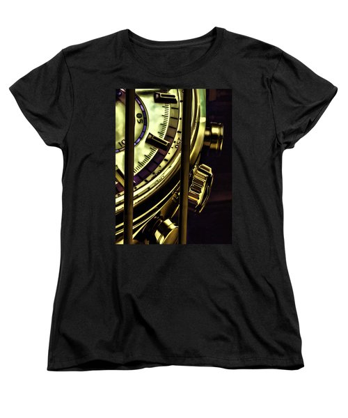 Women's T-Shirt (Standard Cut) featuring the painting Trapped In Time by Muhie Kanawati