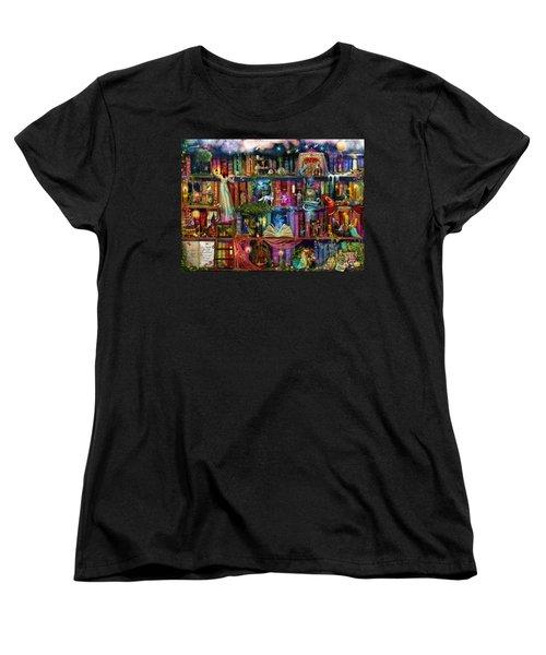 Fairytale Treasure Hunt Book Shelf Women's T-Shirt (Standard Cut) by Aimee Stewart