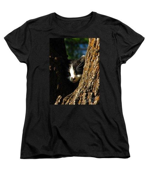 Tree Cat Women's T-Shirt (Standard Cut) by Greg Patzer