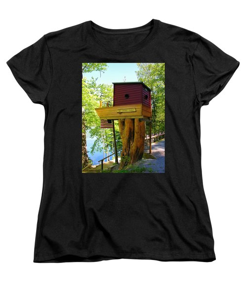 Tree House Boat Women's T-Shirt (Standard Cut) by Sherman Perry