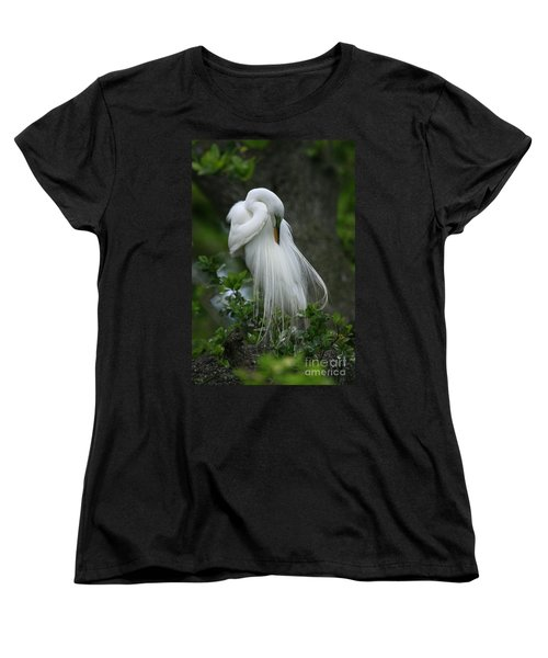 Women's T-Shirt (Standard Cut) featuring the photograph Tree Of Plumes by John F Tsumas