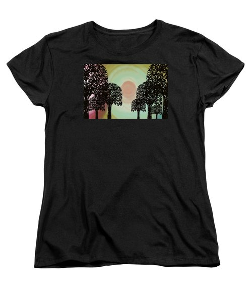 Trees Of Light Women's T-Shirt (Standard Cut) by Christine Fournier