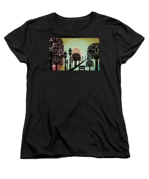 Trees Of Lights Women's T-Shirt (Standard Cut) by Christine Fournier