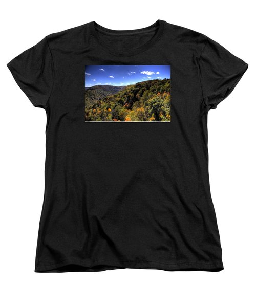Women's T-Shirt (Standard Cut) featuring the photograph Trees Over Rolling Hills by Jonny D