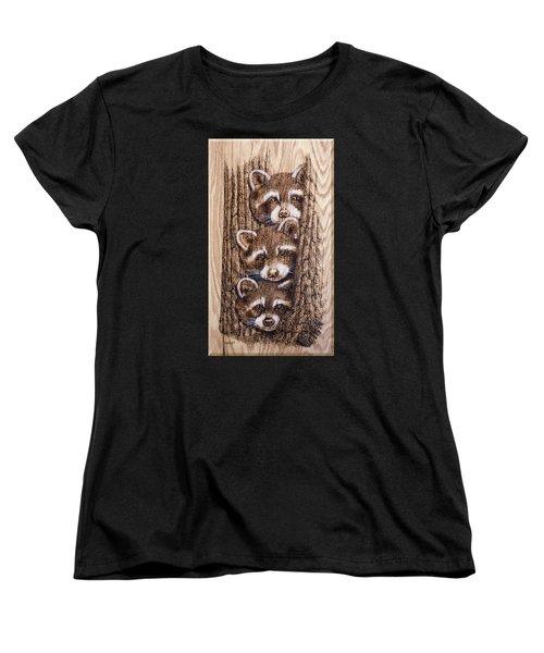 Tres Amegos Women's T-Shirt (Standard Cut) by Ron Haist