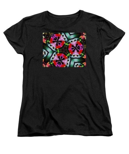 Women's T-Shirt (Standard Cut) featuring the digital art Triad by David Lane