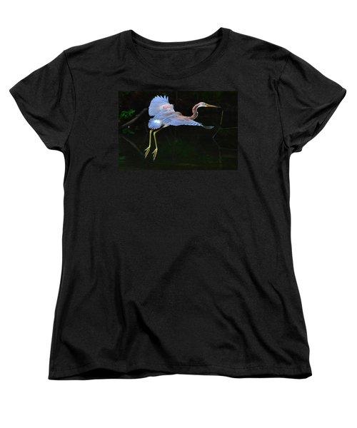 Tricolored Heron Women's T-Shirt (Standard Cut) by Charlotte Schafer