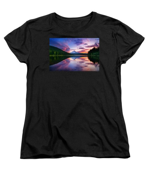 Trillium Lake Sunrise Women's T-Shirt (Standard Cut)