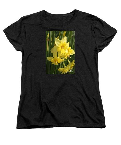Tripartite Daffodil Women's T-Shirt (Standard Cut) by Judy Whitton