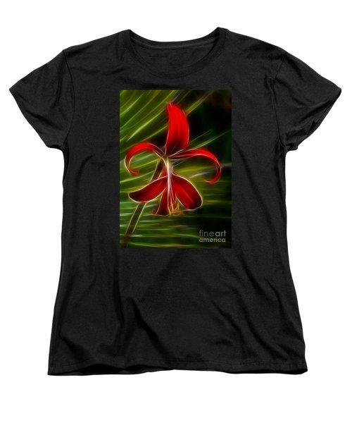 Tropical Abstract Women's T-Shirt (Standard Cut) by Vivian Christopher