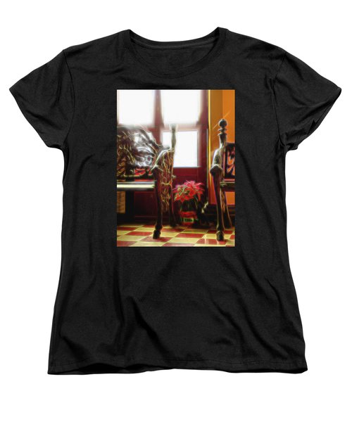 Women's T-Shirt (Standard Cut) featuring the digital art Tropical Drawing Room 1 by William Horden