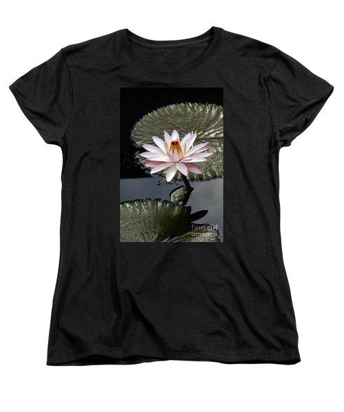 Tropical Floral Elegance Women's T-Shirt (Standard Cut) by Byron Varvarigos