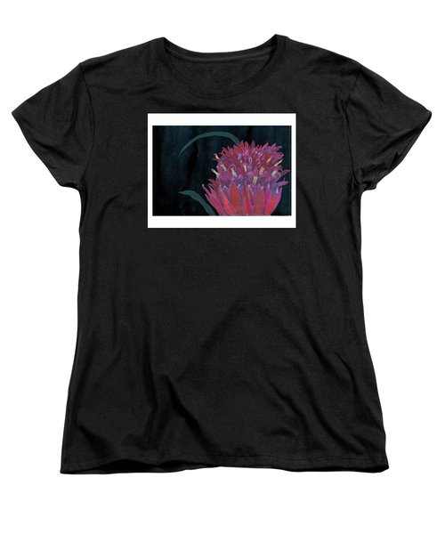 Women's T-Shirt (Standard Cut) featuring the mixed media Tropical Flower by C Sitton