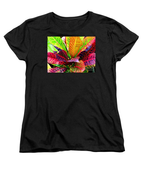 Tropicals Gone Wild Naturally Women's T-Shirt (Standard Cut) by David Lawson