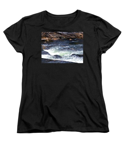 Women's T-Shirt (Standard Cut) featuring the photograph Trout River by Jackie Carpenter