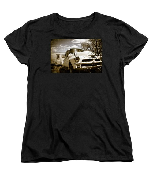 Women's T-Shirt (Standard Cut) featuring the photograph Truck And Trailer by Steven Bateson