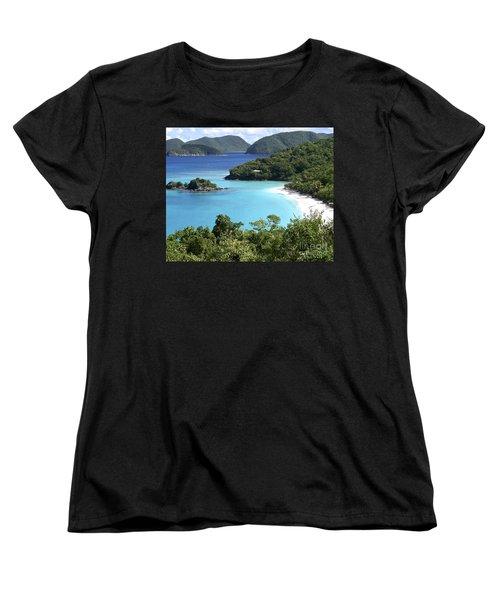 Women's T-Shirt (Standard Cut) featuring the photograph Trunk Bay II by Carol  Bradley