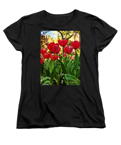 Tulip Time Women's T-Shirt (Standard Cut) by Peggy Hughes