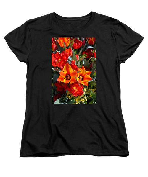 Tulips At The Pier Women's T-Shirt (Standard Cut) by Holly Blunkall