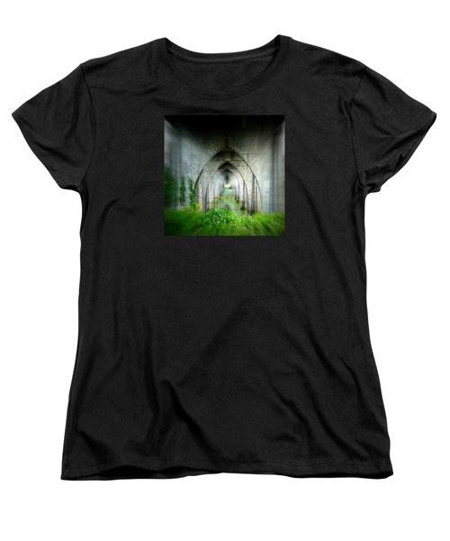 Women's T-Shirt (Standard Cut) featuring the photograph Tunnel Effect by Nick Kloepping
