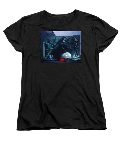 Tunnelvision Women's T-Shirt (Standard Cut) by Blue Sky