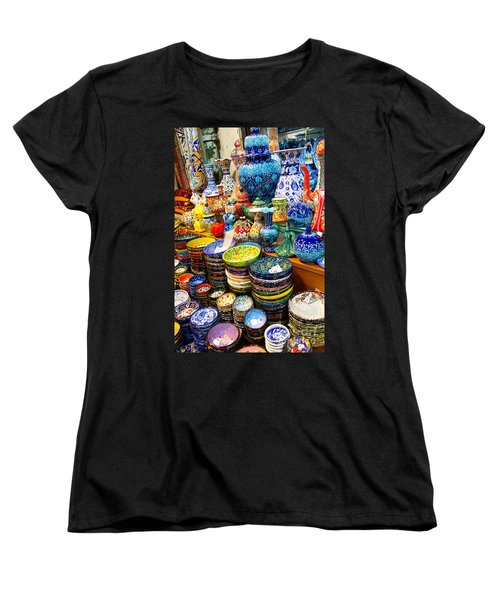 Turkish Ceramic Pottery 1 Women's T-Shirt (Standard Cut) by David Smith