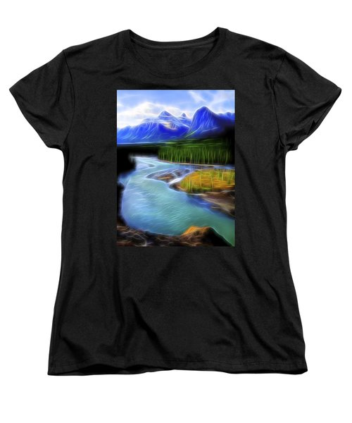 Women's T-Shirt (Standard Cut) featuring the digital art Turquoise Light 1 by William Horden