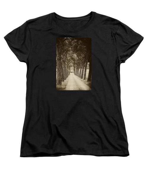 Women's T-Shirt (Standard Cut) featuring the photograph Tuscan Pines by Hugh Smith