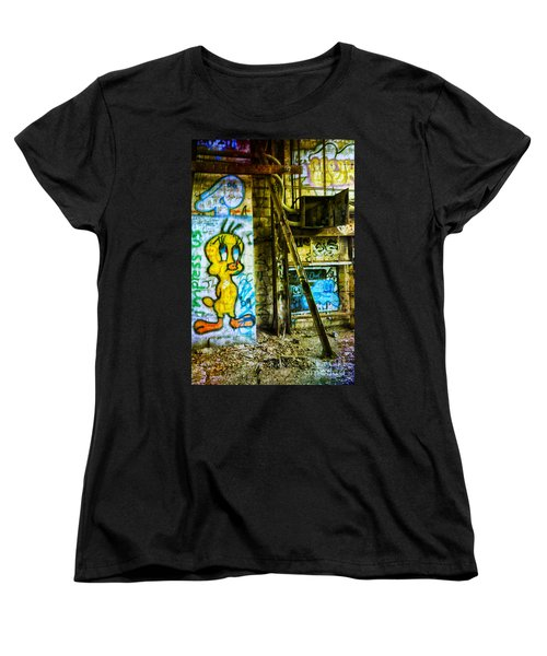Women's T-Shirt (Standard Cut) featuring the photograph Tweety by Debra Fedchin