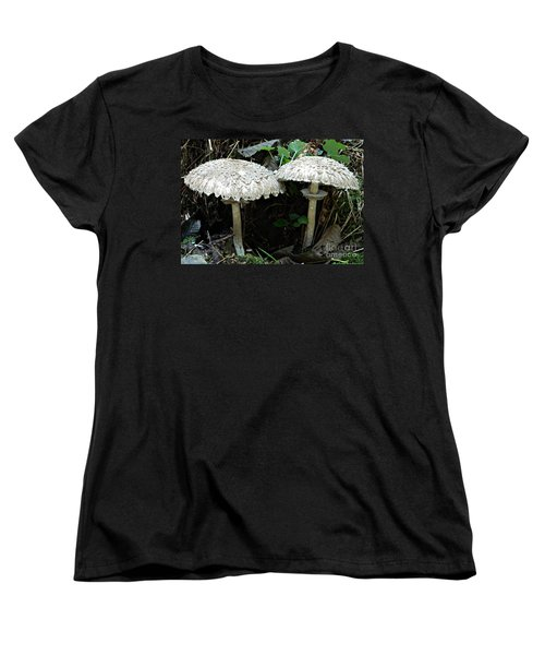 Two Magnificent Toadstools Women's T-Shirt (Standard Cut) by Chalet Roome-Rigdon