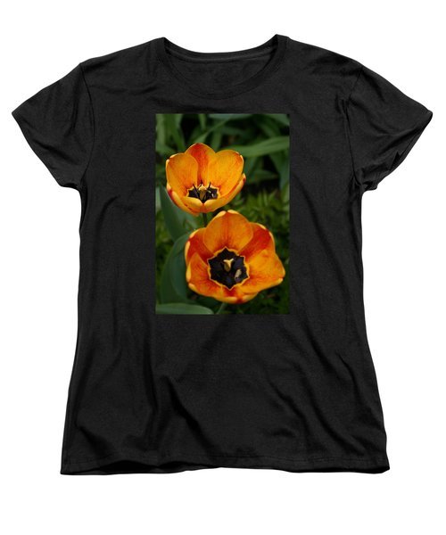 Two Tulips Women's T-Shirt (Standard Cut) by Denyse Duhaime