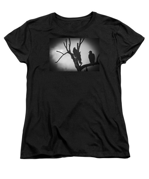 Two Vultures Women's T-Shirt (Standard Cut) by Bradley R Youngberg