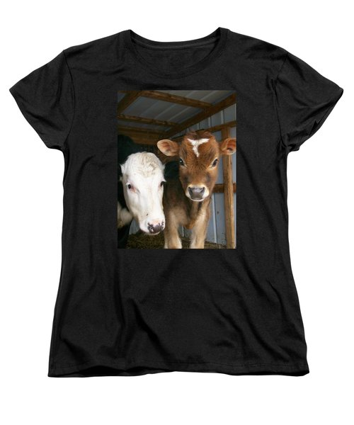Women's T-Shirt (Standard Cut) featuring the photograph Two's Company by Sara  Raber