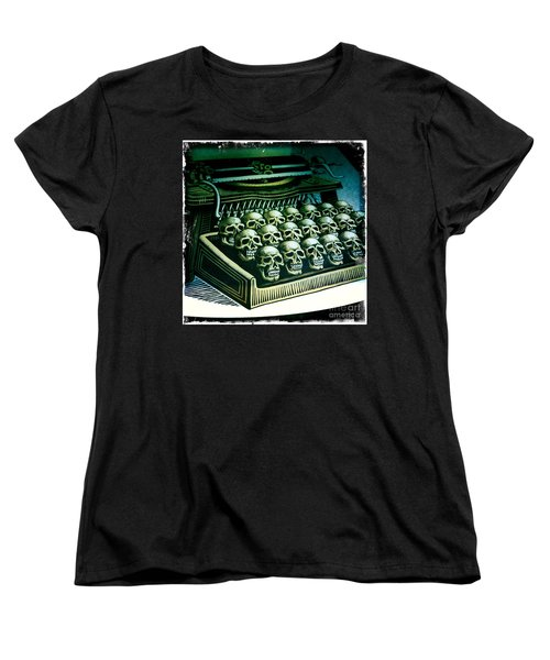 Typewriter With A Difference Women's T-Shirt (Standard Cut) by Nina Prommer