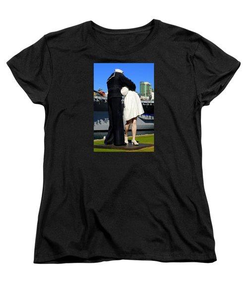 Unconditional Surrender Kiss Women's T-Shirt (Standard Cut) by Caroline Stella