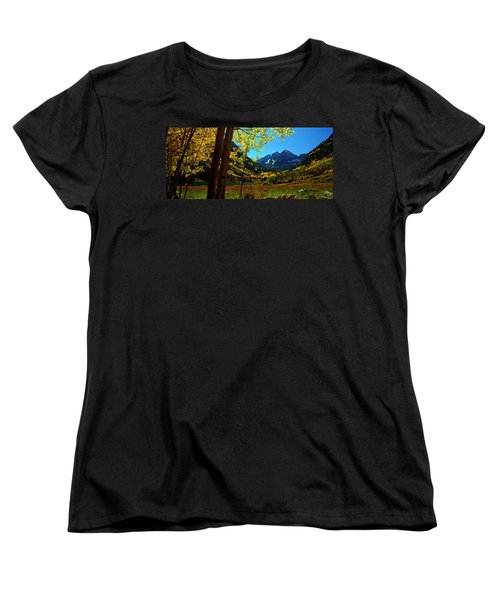 Under Golden Trees Women's T-Shirt (Standard Cut) by Jeremy Rhoades