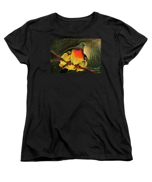 Women's T-Shirt (Standard Cut) featuring the painting Under His Wings by Hazel Holland
