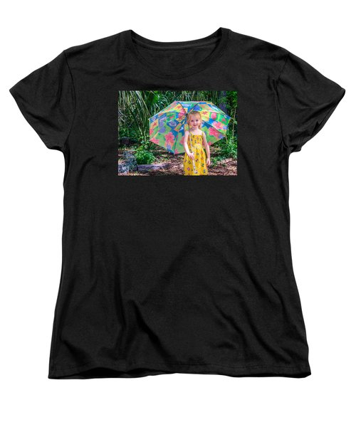 Women's T-Shirt (Standard Cut) featuring the photograph Under My Umbrella by Rob Sellers