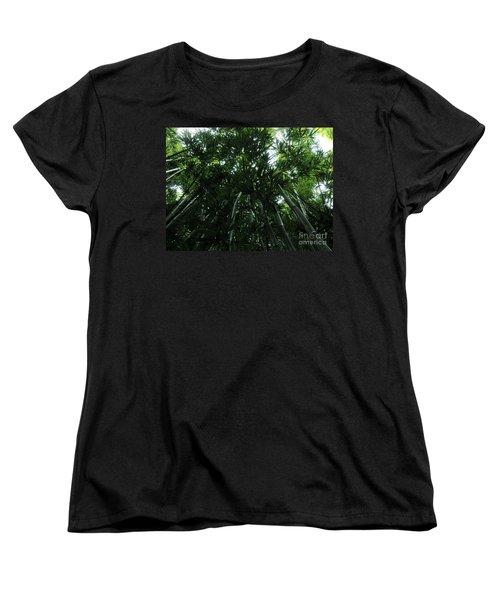 Women's T-Shirt (Standard Cut) featuring the photograph Under The Bamboo Haleakala National Park  by Vivian Christopher